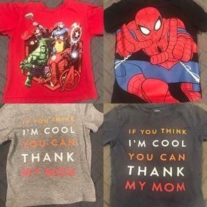 Disney Marvel avengers Spider-Man lot Tee shirt 4t